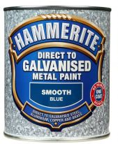 Hammerite Direct To Galvanised Metal Paint 750ml - Blue